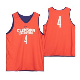 Clemson Tigers Orange Team-Issued #4 Authentic College Basketball Jersey from the Basketball Program
