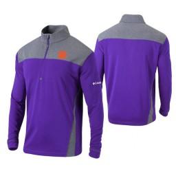 Clemson Tigers Purple Omni-Wick Standard Quarter-Zip Jacket