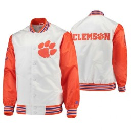 Clemson Tigers White Orange The Legend Full-Snap Jacket