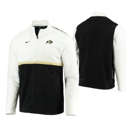 Colorado Buffaloes White Black Color Block Quarter-Zip Jacket