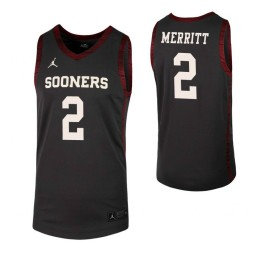 Youth Corbin Merritt Authentic College Basketball Jersey Anthracite Oklahoma Sooners