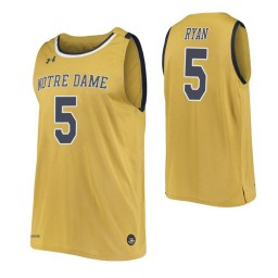 Cormac Ryan Authentic College Basketball Jersey Gold Notre Dame Fighting Irish