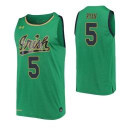 Cormac Ryan Authentic College Basketball Jersey Kelly Green Notre Dame Fighting Irish