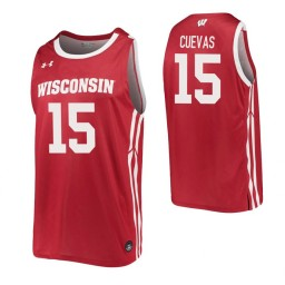 Courtland Cuevas Authentic College Basketball Jersey Red Wisconsin Badgers