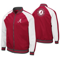 Alabama Crimson Tide Crimson Kent Full-Zip Bomber Jacket