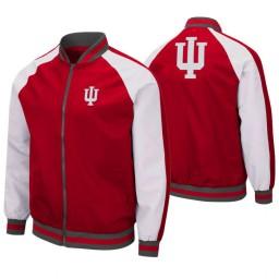 Indiana Hoosiers Crimson Kent Full-Zip Bomber Jacket