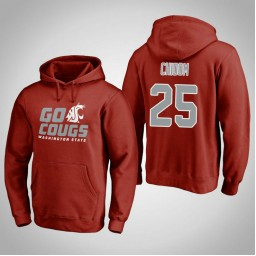 Washington State Cougars #25 Arinze Chidom Men's Crimson Team Hometown Collection Pullover Hoodie