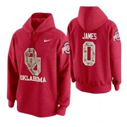 Oklahoma Sooners #0 Christian James Men's Crimson College Basketball Hoodie