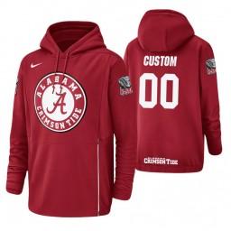 Alabama Crimson Tide #00 Custom Men's Crimson College Basketball Hoodie