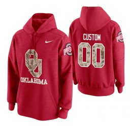 Oklahoma Sooners #00 Custom Men's Crimson College Basketball Hoodie