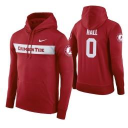 Alabama Crimson Tide #0 Donta Hall Men's Crimson Pullover Hoodie