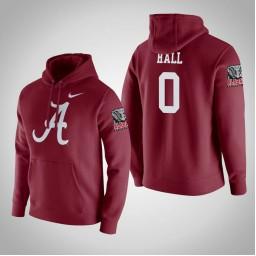 Alabama Crimson Tide #0 Donta Hall Men's Crimson College Basketball Hoodie