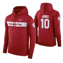 Alabama Crimson Tide #10 Herbert Jones Men's Crimson Pullover Hoodie