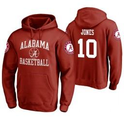 Alabama Crimson Tide #10 Herbert Jones Men's Crimson College Basketball Hoodie