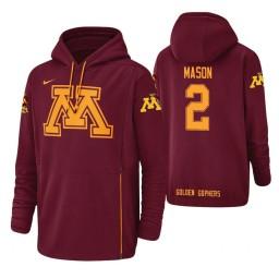 Minnesota Golden Gophers #2 Nate Mason Men's Crimson College Basketball Hoodie