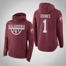 Oklahoma Sooners #1 Rashard Odomes Men's Crimson College Basketball Hoodie