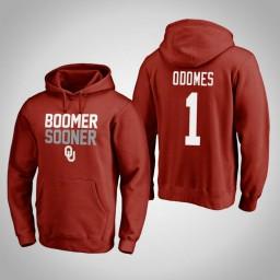 Oklahoma Sooners #1 Rashard Odomes Men's Crimson Pullover Hoodie