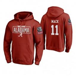 Alabama Crimson Tide #11 Tevin Mack Men's Crimson College Basketball Hoodie