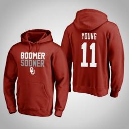 Oklahoma Sooners #11 Trae Young Men's Crimson Pullover Hoodie