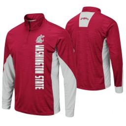 Washington State Cougars Crimson Bart Windshirt Pullover Jacket