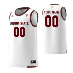 Arizona State Sun Devils 00 Custom College Basketball Replica Jersey White