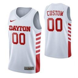 Dayton Flyers 00 Custom College Basketball Jersey White