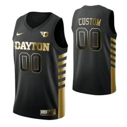 Dayton Flyers 00 Custom Limited Golden Edition Jersey Black