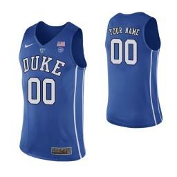 Men's Duke Blue Devils Custom College Basketball Authentic Performace Jersey Royal