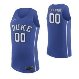 Men's Duke Blue Devils Custom College Basketball Authentic Jersey Royal