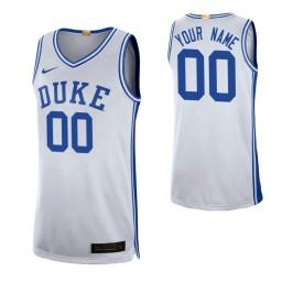 Duke Blue Devils 00 Custom College Basketball Limited Jersey White