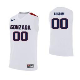 Replica Gonzaga Bulldogs Custom College Basketball Jersey White