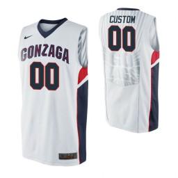 Gonzaga Bulldogs Custom College Basketball Jersey White