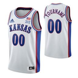 Kansas Jayhawks 00 Custom 1990s Throwback Jersey White