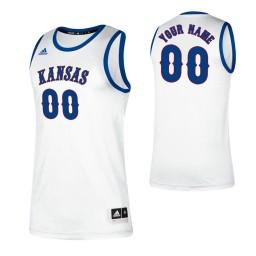 Kansas Jayhawks 00 Custom College Basketball Classic Jersey White