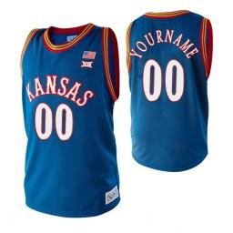 Kansas Jayhawks 00 Custom College Basketball Jersey Royal
