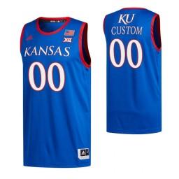 Kansas Jayhawks Custom College Basketball Authentic Jersey Royal