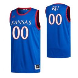 Kansas Jayhawks 00 Custom Swingman Jersey Royal