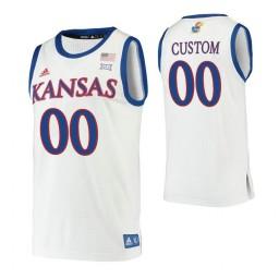 Kansas Jayhawks Custom College Basketball Authentic Jersey White