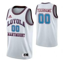 Loyola Marymount Lions 00 Custom College Basketball Throwback Jersey White