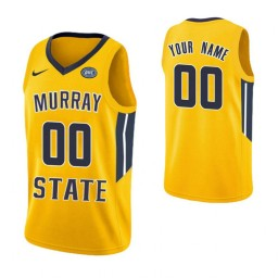 Men's Murray State Racers Custom College Basketball Authentic Jersey Yellow