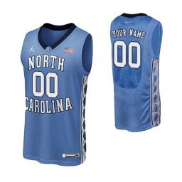 Men's North Carolina Tar Heels Custom College Basketball Authentic Performace Jersey Royal