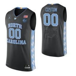 North Carolina Tar Heels Custom College Basketball Authentic Jersey Black