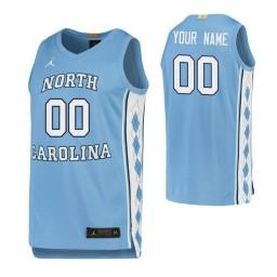 North Carolina Tar Heels 00 Custom College Basketball Limited Jersey Carolina Blue