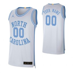 North Carolina Tar Heels 00 Custom College Basketball Retro Limited Jersey White