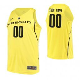 Men's Oregon Ducks Custom College Basketball Authentic Jersey Yellow