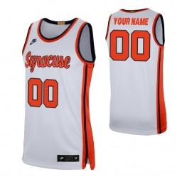 Syracuse Orange 00 Custom College Basketball Retro Limited Jersey White
