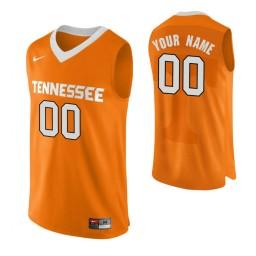 Men's Tennessee Volunteers Custom College Basketball Authentic Performace Jersey Orange