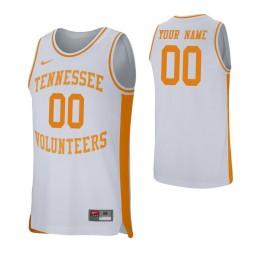 Men's Tennessee Volunteers Custom College Basketball Retro Performance Jersey White