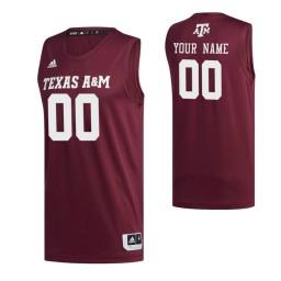 Texas A&M Aggies 00 Custom College Basketball Swingman Jersey Maroon