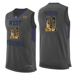 Women's West Virginia Mountaineers #11 D'Angelo Hunter Authentic College Basketball Jersey Gray